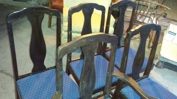 Peachy 5 Vintage T Back Dining Chairs Dark Stain Nice Condition Cjindustries Chair Design For Home Cjindustriesco
