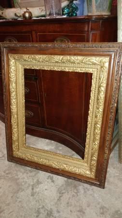 Antique Oak Guilded Frame 26 X 31 Wonderful Early
