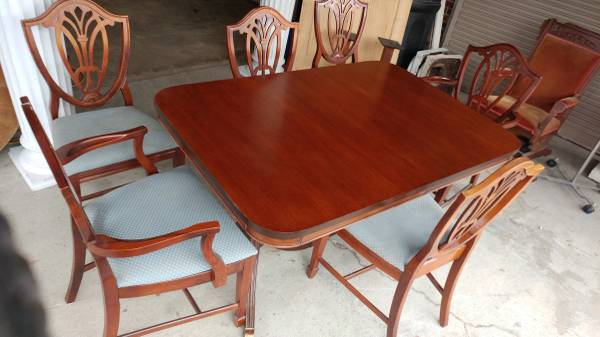 Mahogany Duncan Phyfe Dining Table 6 Chairs 2 Leafs 00a0a 466kbckgoee 600x450