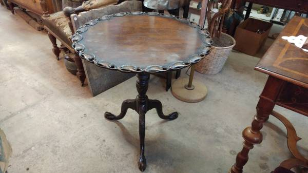 Antique Tilt Top Tea Table Chippendale Style 1885 Mahogany Ball Claw