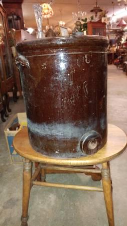Vintage 8 Gallon Crock Stoneware Water Cooler W Spigot