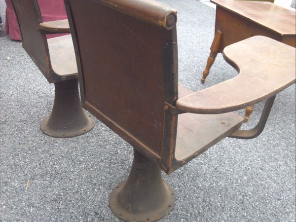 Antique College Lecture Hall Desks School Desk Chairs Wow Long Valley Traders