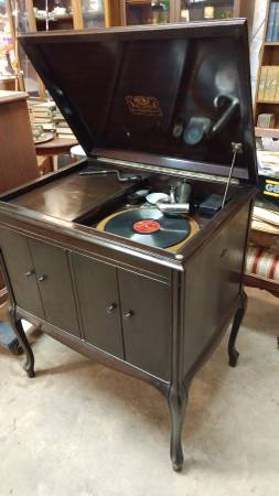 antique victor vv 210 victrola record player working long valley traders. Black Bedroom Furniture Sets. Home Design Ideas
