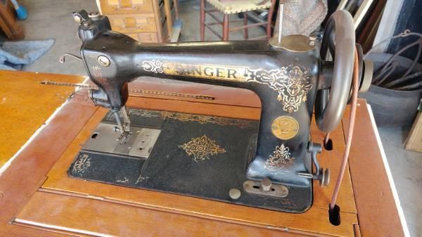Antique Singer Sewing Machine 1892 W Cabinet Nice