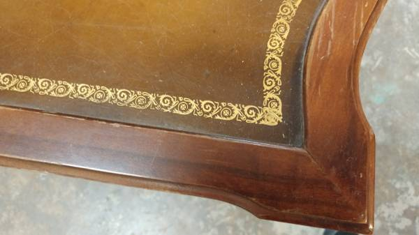 Antique Mahogany Leather Top Side Table Beautiful W Drawer 00z0z 9s77ps5syei 600x450