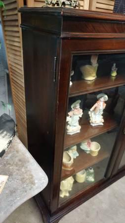 Antique Mahogany Display Cabinet Double Gl Doors Very Nice 00z0z 4zwijdseod1 600x450