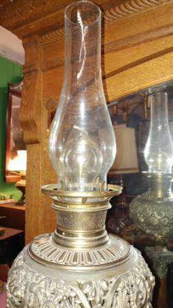 Antique B Amp H Oil Lamp Electified 1800 S Beautiful