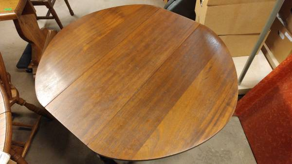Antique Mahogany Small Drop Leaf Dining Table Occasional