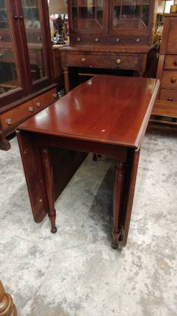 Solid Cherry Drop Leaf Dining Table Beautiful Large