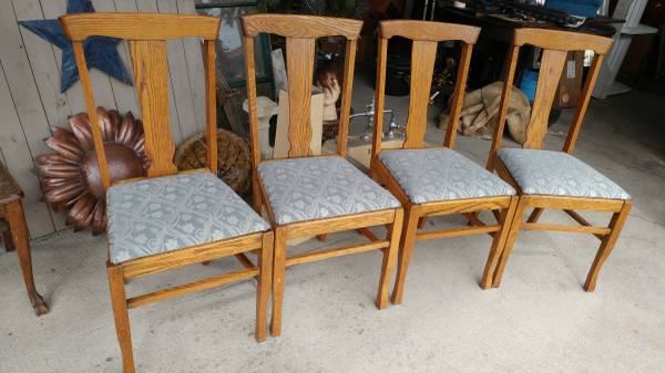 Astounding Antique Oak T Back Dining Chairs Great Condition Cjindustries Chair Design For Home Cjindustriesco