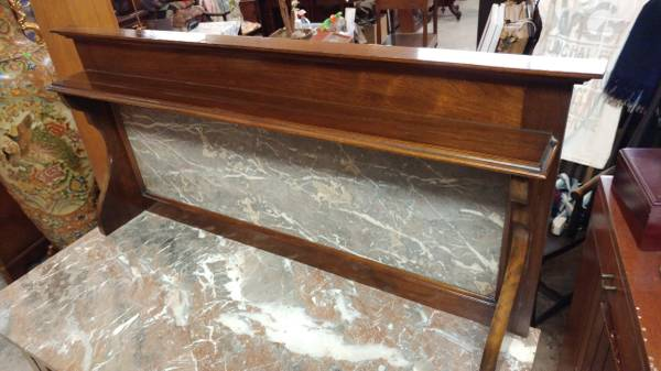 Antique Wash Stand Marble Top With Mahogany Beautiful
