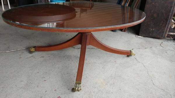 Antique Mahogany Oval Coffee Table With Gl Top Beautiful