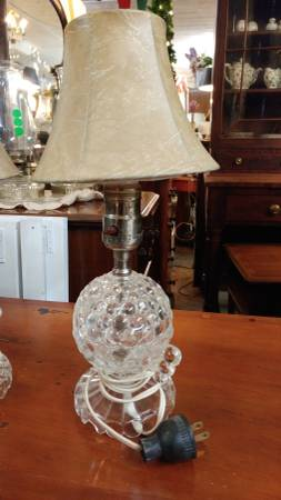 2 Small Glass Vintage Vanity Lamps Cute Lamps Long