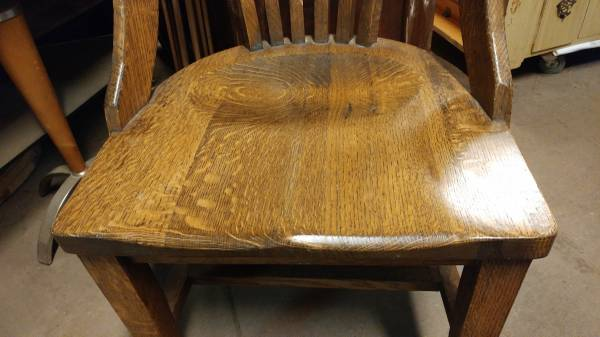 Antique Oak Desk Chair U2013 Solid And Heavy Chair U2013 So Nice! U2013 Long Valley  Traders