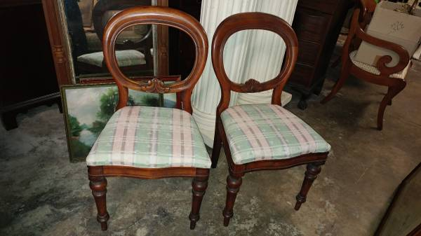 00z0z_bVfT1AIKDKT_600x450 - 2 Antique Victorian Walnut Side Chairs / Parlor Chairs – BEAUTIFUL