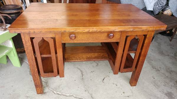 Antique Mission Arts and Crafts Solid Oak Desk – Early and Nice!  00v0v_jvBWwykcVD7_600x450 - Antique Mission Arts And Crafts Solid Oak Desk – Early And Nice