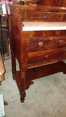 Antique Mahogany Foyer Vanity Table Dresser 1800 S