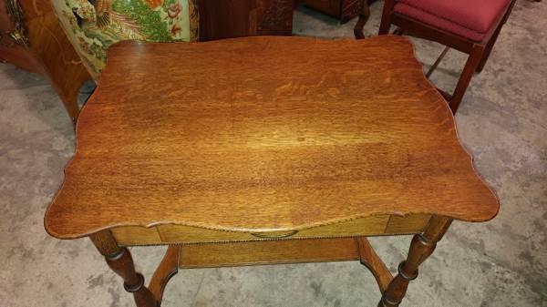 Antique Oak Small Writing Desk Table 1800 S Excellent