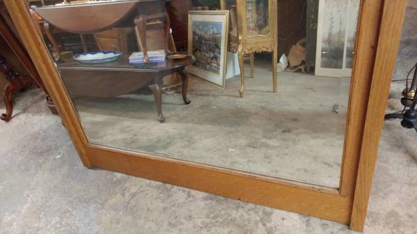 Antique Large Oak Framed Mirror Mantle Beautiful 00q0q 6dglf4rt99r 600x450
