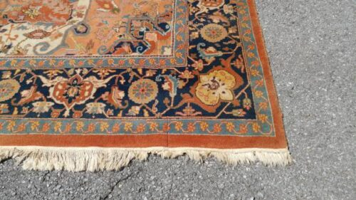 Large Wool Area Rug 12 X 8 5 Thick Pile Great