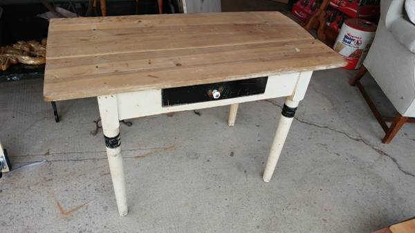 Antique Kitchen Side Work Table With