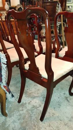 Stupendous 8 Mahogany Dining Chairs Queen Anne Elegant Details Wonderful Gamerscity Chair Design For Home Gamerscityorg