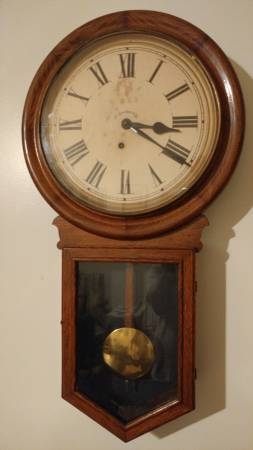 Antique Ingraham 1800 S Wall Clock Beautiful And Works