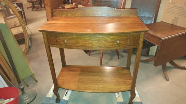 Fantastic Antique Oak Hall Table Dining Server Solid W Claw Feet Theyellowbook Wood Chair Design Ideas Theyellowbookinfo