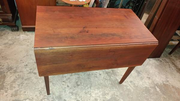 Antique Drop Leaf Walnut Dining Table Small Kitchen Table Nice Long Valley Traders